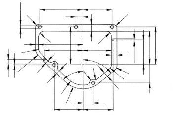 Zeichnung Kunststoffstanzteil